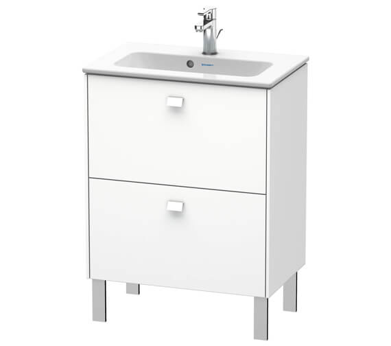 Duravit Brioso Floor Standing 2 Drawer Compact Vanity Unit For ME by Starck Basin