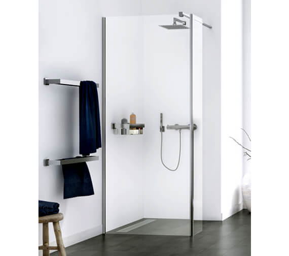 Aqualux Origin 8 Walk-In Corner Fit Shower Panel With Splash Panel Kit