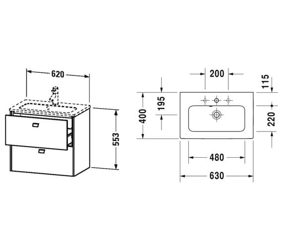 Technical drawing QS-V95810 / BR411001818