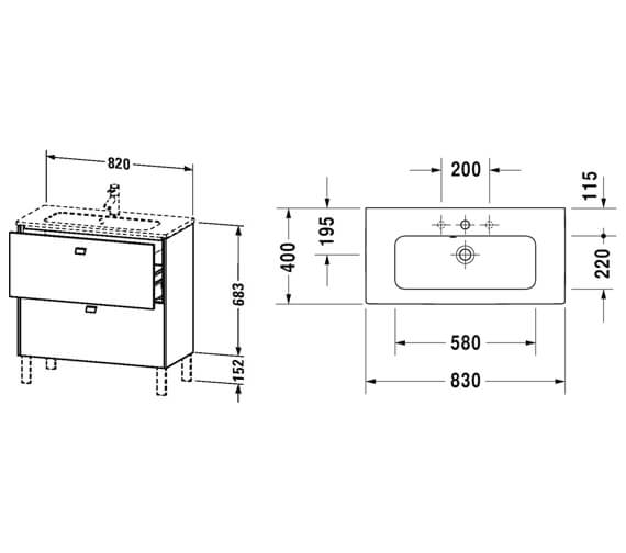 Technical drawing QS-V95811 / BR440601818
