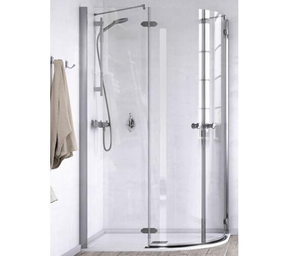 Aqualux ID Match Time 1200 x 900mm Offset Quadrant Shower Enclosure
