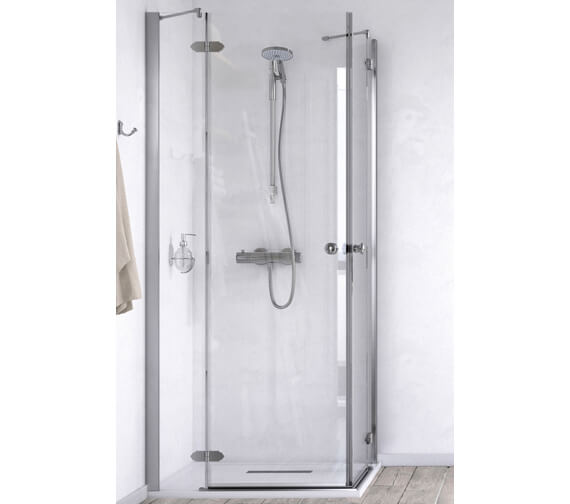 Aqualux ID Match Time 800 x 800mm Corner Entry Shower Enclosure