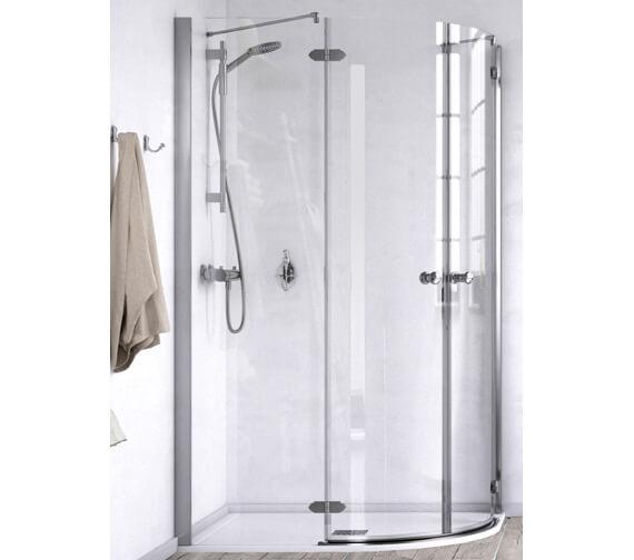 Aqualux ID Match Time 800 x 800mm Quadrant Shower Enclosure