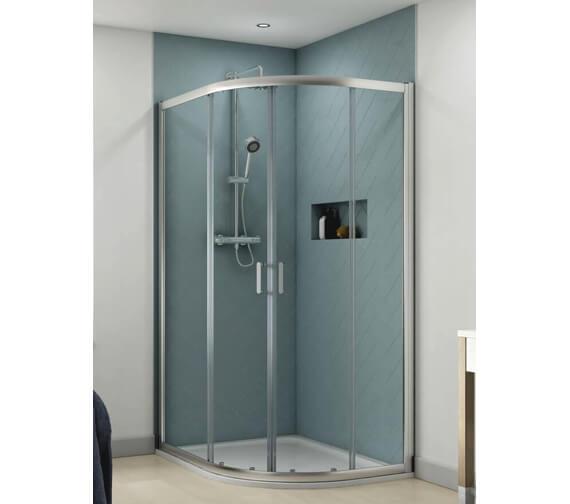 Aqualux Origin 1200 x 900mm Offset Quadrant Shower Enclosure