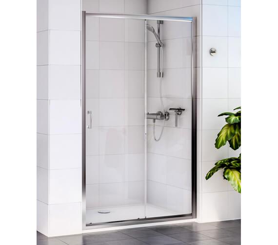 Aqualux Shine Sliding Shower Door 1700mm Polished Silver - FEN0921AQU