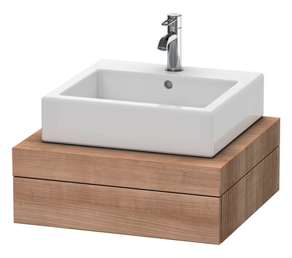Alternate image of Duravit Fogo 600 x 550mm White Matt Central Cut Out Console With 1 Drawer