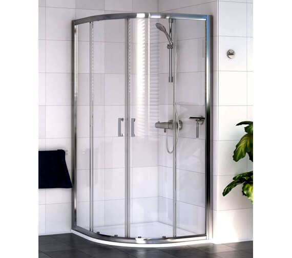 Shine Quadrant Shower Enclosure 800mm Polished Silver By