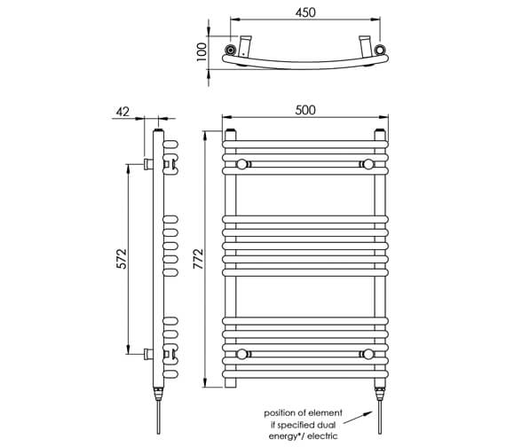Technical drawing QS-V88518 / MD004 MS0772500CP