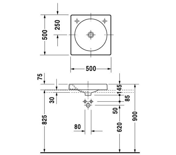 Technical drawing QS-D19349 / 0320500000