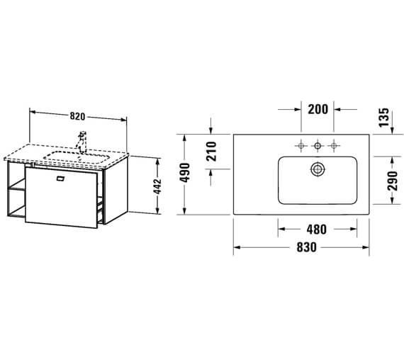 Technical drawing QS-V95812 / BR401201818