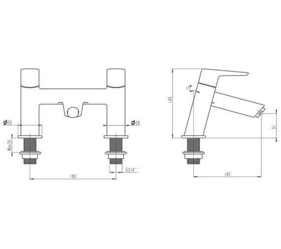 Technical drawing QS-V90865 / A42416VUK