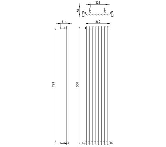 Technical drawing QS-V88521 / MD005 MS1000362CP