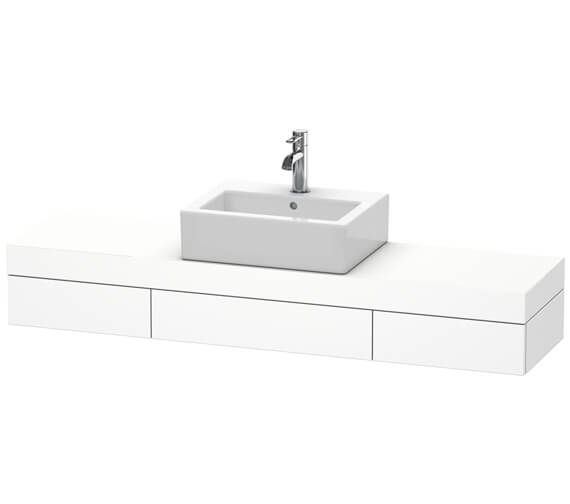 Duravit Fogo 1400 x 360mm 1 Cut Out Central Console With 2 Drawer