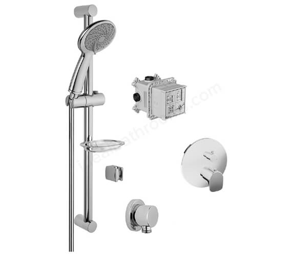 VitrA 1 Way X-Line Shower Set With Samba Handshower