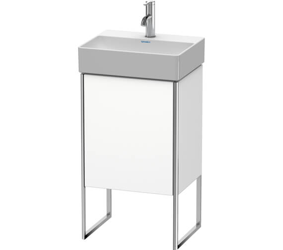 Duravit XSquare 434 x 340mm Single Door Floor-Standing White Matt Vanity Unity