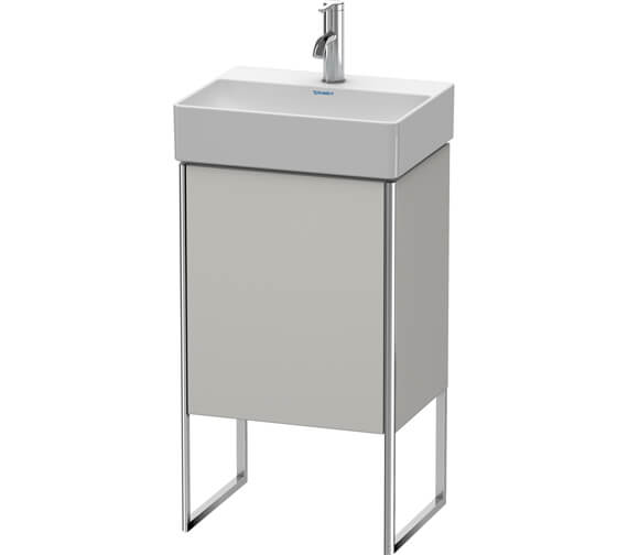 Additional image of Duravit XSquare 434 x 340mm Single Door Floor-Standing White Matt Vanity Unity