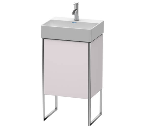 Alternate image of Duravit XSquare 434 x 340mm Single Door Floor-Standing White Matt Vanity Unity