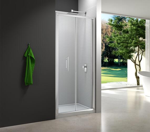 Merlyn 6 Series 6mm Clear Glass Bi-Fold Shower Door 900mm