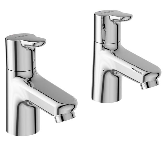 Armitage Shanks Contour 21+ Pair Of Basin Pillar Taps - Chrome Finish