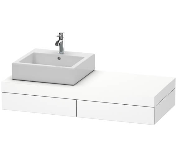 Duravit Fogo 1200 x 550mm 2 Drawer Console Unit With 1 Cut Out Left Hand Side