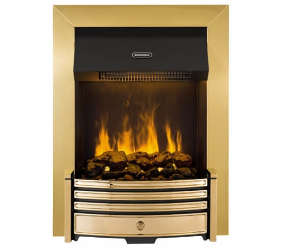 Dimplex Crestmore Traditional Brass Effect Opti-myst Electric Inset Fire
