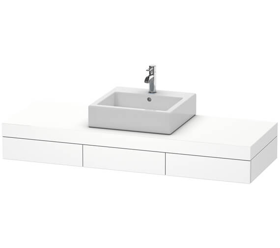 Duravit Fogo 1500 x 550mm 1 Cut Out Central Console With 3 Drawer