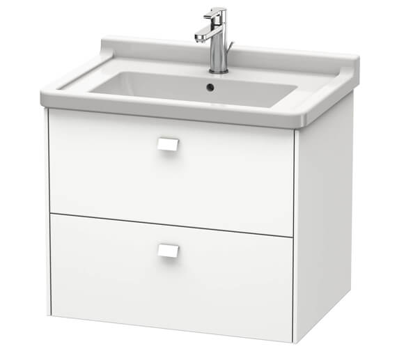 Duravit Brioso Wall Mounted 2 Drawer Vanity Unit For Starck 3 Basin