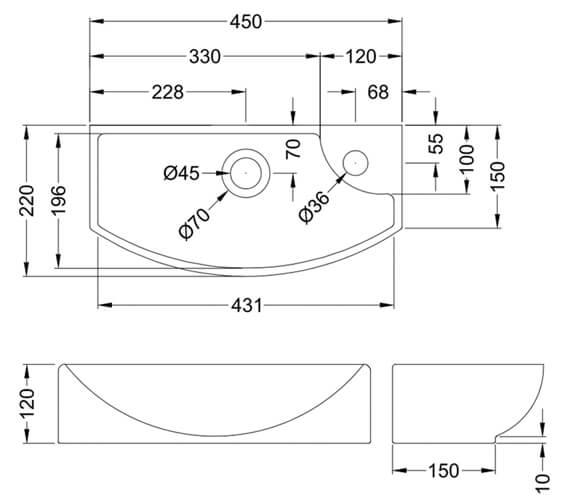 Technical drawing QS-V4932 / NBV161