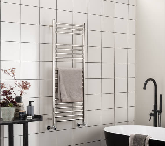 Vogue Chube 500mm Wide Stainless Steel Straight Towel Rail
