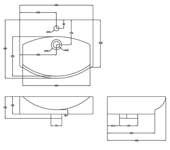 Technical drawing QS-V4936 / NBV164