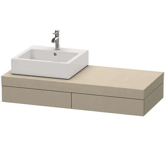 Alternate image of Duravit Fogo 1200 x 550mm 2 Drawer Console Unit With 1 Cut Out Left Hand Side
