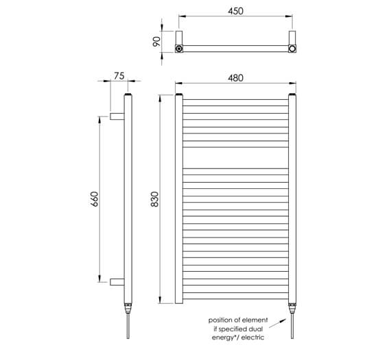 Technical drawing QS-V88526 / MD047 MS0830480AT