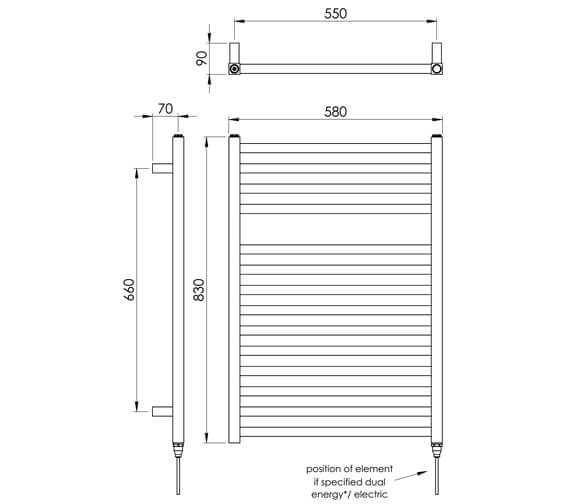 Technical drawing QS-V88527 / MD047 MS0830580AT