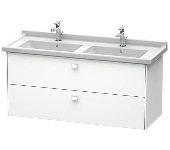 Duravit Brioso Wall Mounted 1220mm 2 Drawer Vanity Unit For Starck 3 Basin