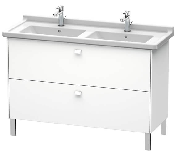 Duravit Brioso Floor Standing 1220mm 2 Drawer Vanity Unit For Starck 3 Basin