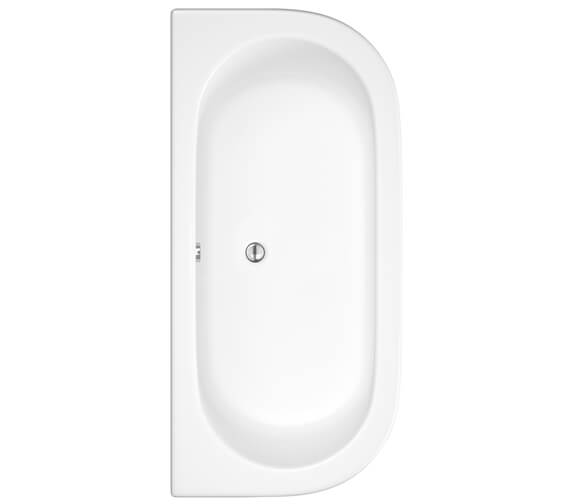 Hudson Reed Pearl 1700 x 750mm Back To Wall Bath With Panel