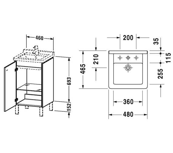 Technical drawing QS-V95817 / BR4420L1818