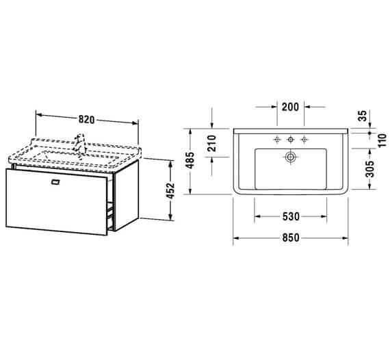 Technical drawing QS-V95818 / BR404101818