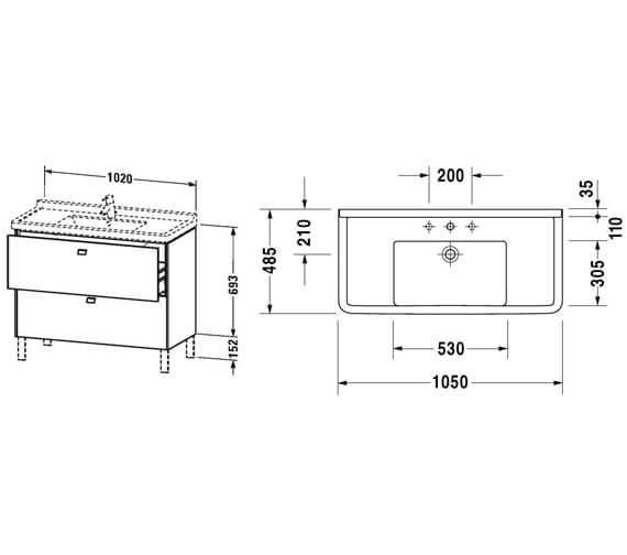 Technical drawing QS-V95820 / BR442101818