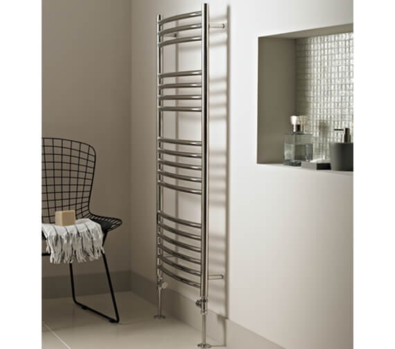 Alternate image of Vogue Kerve 600mm Width Stainless Steel Curved Towel Rail