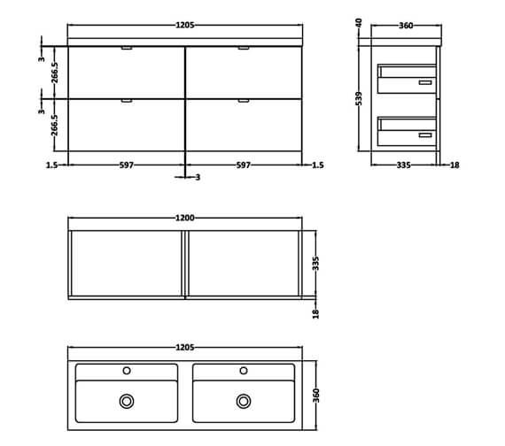 Technical drawing QS-V98005 / CBI132