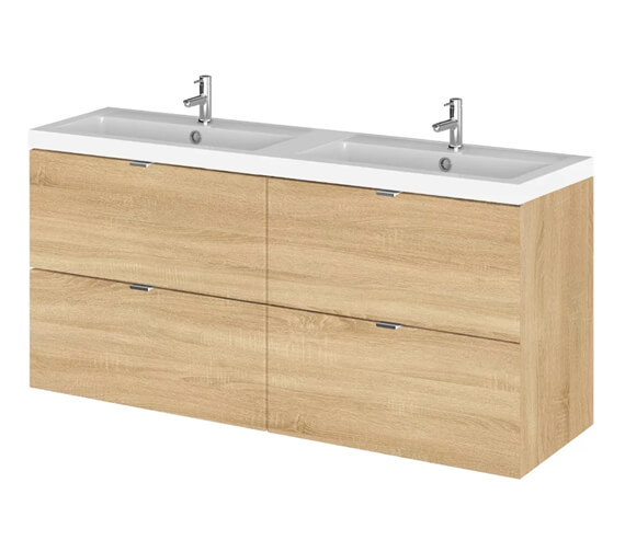 Additional image of Hudson Reed Fusion 1200mm Wall Hung Full Depth 4 Drawer Vanity Unit And Basin