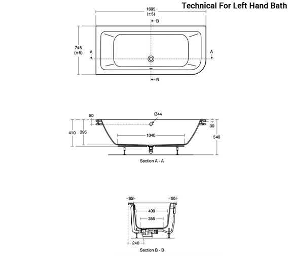 Technical drawing QS-V96087 / E152401