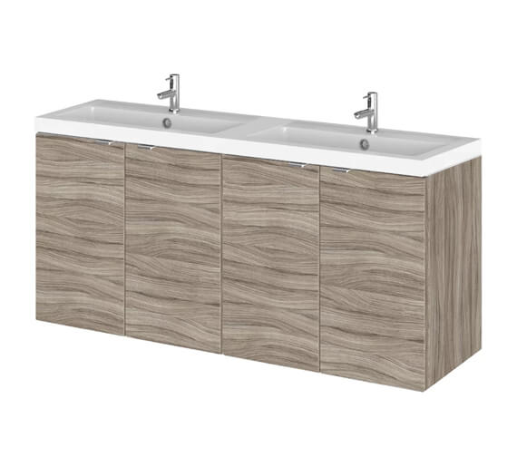 Additional image of Hudson Reed Fusion 1200mm Wall Hung Full Depth 4 Door Vanity Unit And Basin