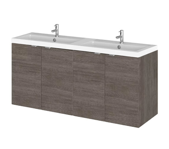 Alternate image of Hudson Reed Fusion 1200mm Wall Hung Full Depth 4 Door Vanity Unit And Basin