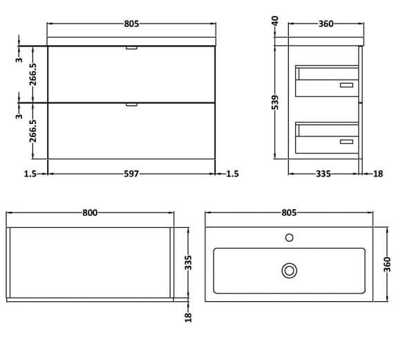 Technical drawing QS-V98008 / CBI131