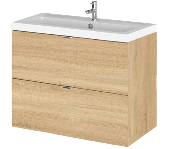 Additional image of Hudson Reed Fusion 800mm Wall Hung Full Depth 2 Drawer Vanity Unit And Basin