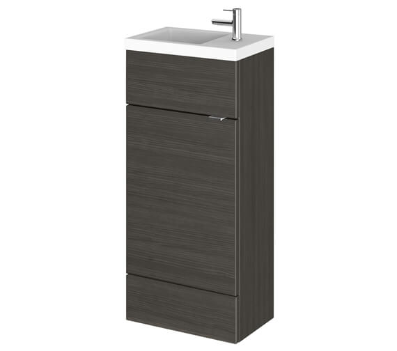 Alternate image of Hudson Reed Fusion 400mm Floorstanding Slimline Vanity Unit And Basin