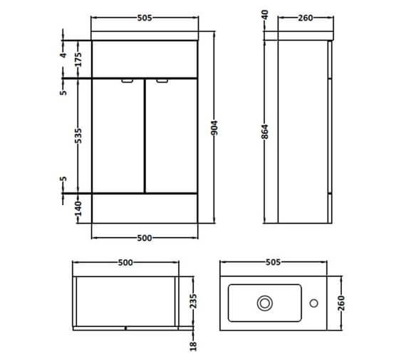 Technical drawing QS-V98010 / CBI122