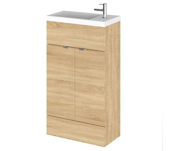 Additional image of Hudson Reed Fusion 500mm Floor-Standing  Slimline Vanity Unit And Basin